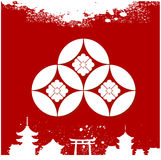 Japanese cultural ornaments. National ornaments of Japan Royalty Free Stock Photos