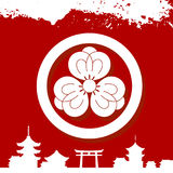 Japanese cultural ornaments. National ornaments of Japan Royalty Free Stock Images