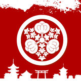 Japanese cultural ornaments. National ornaments of Japan Stock Image