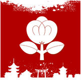 Japanese cultural ornaments. National ornaments of Japan Royalty Free Stock Image
