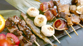Japanese culture, barbecue foods Royalty Free Stock Images