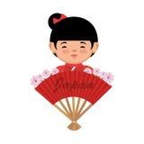 Japanese culture beautiful geisha Stock Images