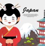 Japanese culture beautiful geisha Royalty Free Stock Photography