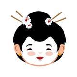 Japanese culture beautiful geisha Royalty Free Stock Photo