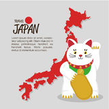 Japanese culture cat lucky. Vector illustration design Stock Images