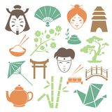 Japanese culture design elements collection Royalty Free Stock Image