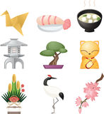 Japanese culture icons Stock Photos