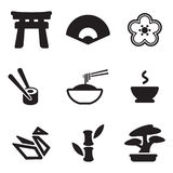 Japanese Culture Icons. This image is a vector illustration and can be scaled to any size without loss of resolution Royalty Free Stock Photos
