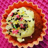 Japanese Cupcake. This is a delicious Japanese cupcake Royalty Free Stock Image