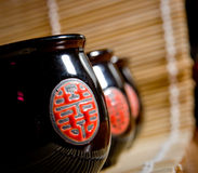 The Japanese cups for tea Royalty Free Stock Images
