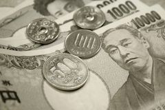 Japanese currency Stock Photos