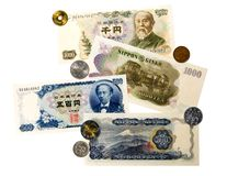 Japanese Currency and Coinage Royalty Free Stock Images