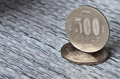 Japanese currency coins Royalty Free Stock Image