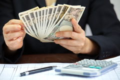 Japanese currency note Stock Photo