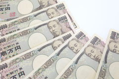 Japanese currency notes , Japanese Yen Royalty Free Stock Photos