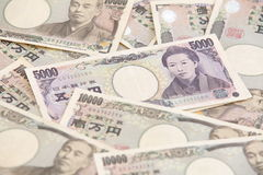 Japanese currency notes , Japanese Yen Stock Photography