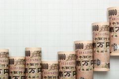 Japanese currency uptrend graph Stock Photography