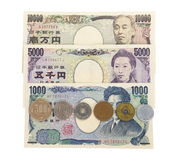Japanese currency yen Royalty Free Stock Photos