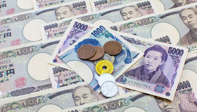 Japanese currency yen Stock Image