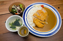 Japanese Curry Pork with Rice Stock Images
