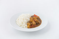 Japanese Curry with rice isolated Stock Image