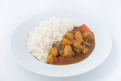 Japanese Curry with rice isolated Stock Images