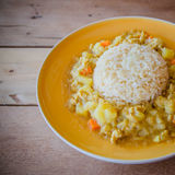 Japanese curry rice Stock Images