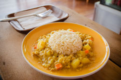 Japanese curry rice Royalty Free Stock Photos
