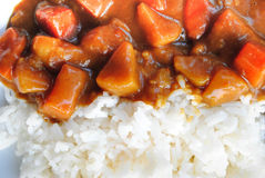 Japanese Curry Rice Royalty Free Stock Photography