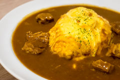 Japanese curry rice Royalty Free Stock Photo