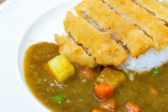 Japanese curry and tonkatsu Stock Photo
