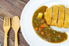 Japanese curry and tonkatsu Royalty Free Stock Image