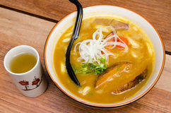 Japanese Curry Udon with Pork Royalty Free Stock Photos