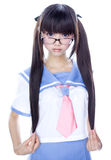 Japanese cute teen school girl Royalty Free Stock Images