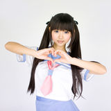 Japanese cute teen school girl Stock Photo