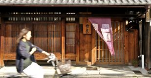 Free Japanese Cyclist In The City Of Kyoto Stock Photos - 174231733