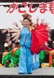 Japanese Daihanya Festival dancers Stock Image