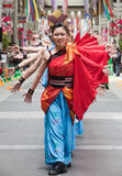 Japanese Daihanya Festival dancers Royalty Free Stock Photos
