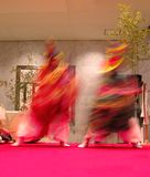 Japanese dancers motion Royalty Free Stock Image