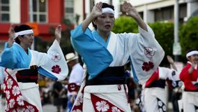 Japanese dancers stock video footage