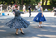 Japanese dancing in Yoyogi Park, Japan stock images