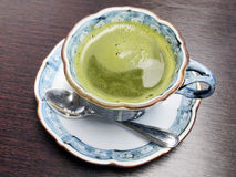 Japanese dark green tea Royalty Free Stock Images