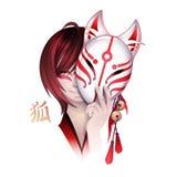 Japanese deamon fox Stock Photo