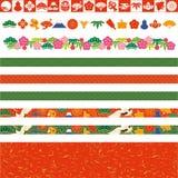 Japanese decorative lines Royalty Free Stock Photo