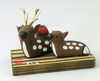 Japanese deer and monkey souvenir Royalty Free Stock Photography