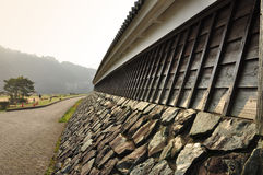 Japanese defensive wall detail Royalty Free Stock Photos