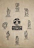 Japanese deities Royalty Free Stock Image