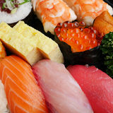 Japanese delicious sushi in the lunch box set Royalty Free Stock Images
