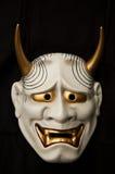 Japanese demon mask stock photo