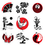 Japanese design. Vector design elements in the Japanese style